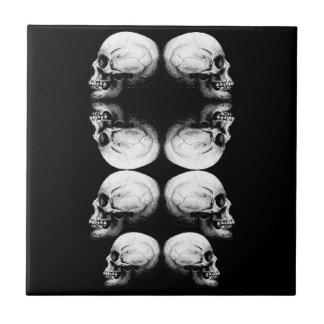 A obscuridade avançada do perfil do crânio protege