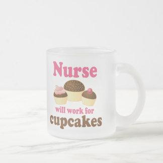 A ocupação trabalhará para a enfermeira dos caneca de vidro fosco