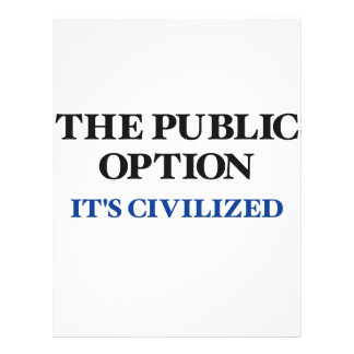 A opção pública modelo de panfleto