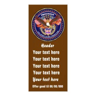 A opinião americana patriótica do cartão da 10.16 x 22.86cm panfleto