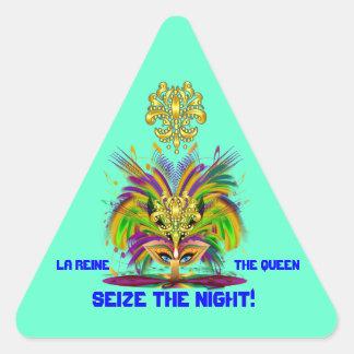A opinião da rainha do carnaval nota por favor adesivos em forma de triângulo