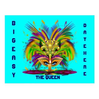 A opinião da rainha do carnaval nota por favor cartão postal