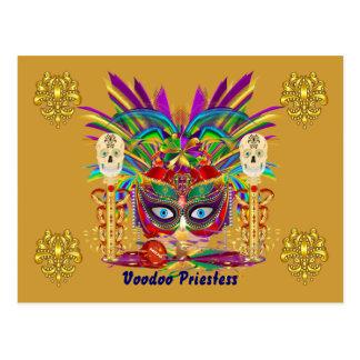 A opinião da sacerdotisa de Mojo do carnaval nota Cartão Postal