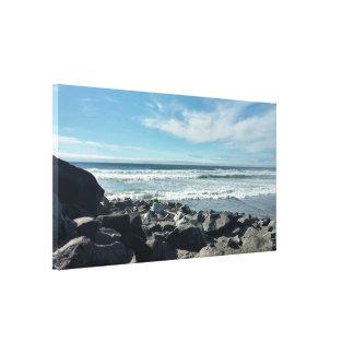 A opinião das rochas do oceano esticou o impressão