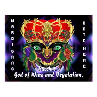 A opinião do Baco da mitologia do carnaval sugere Cartão Postal