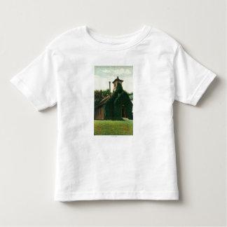 A opinião exterior a hera cobriu a capela, camiseta infantil