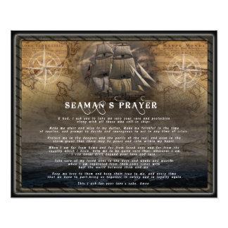 A oração de um marinheiro impressão de foto