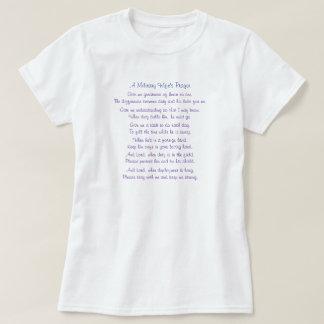 A oração de uma esposa militar, dá-me a grandeza t-shirts