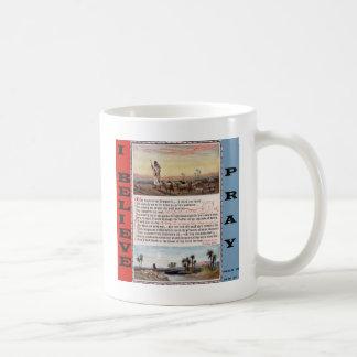A oração do salmo 23, o senhor é meu pastor caneca de café