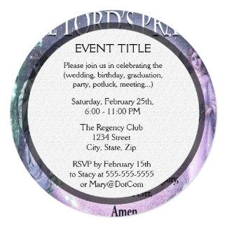 A Oração do senhor Convite Quadrado 13.35 X 13.35cm