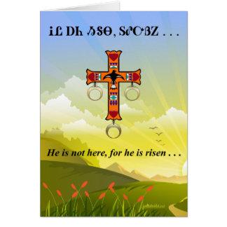 A Oração do senhor no cartão vazio Cherokee