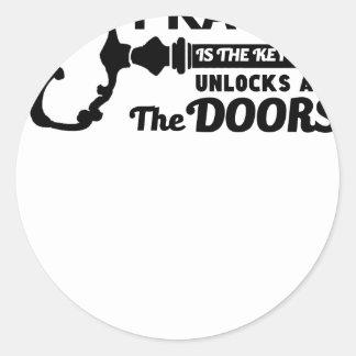 A oração é a chave a todas as portas adesivo redondo