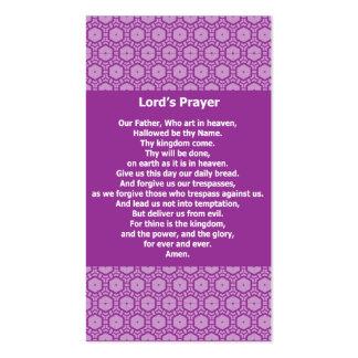 A Oração Evangélico Testemunha Cartão do senhor Cartão De Visita