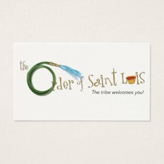 A ordem de cartão do contato de Luis do santo