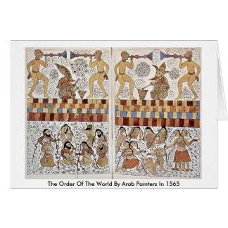 A ordem do mundo por pintores árabes em 1565 cartao