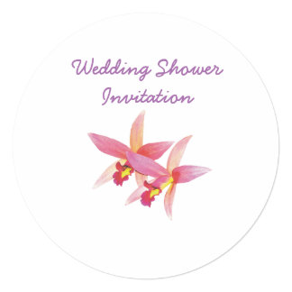 A orquídea favorece ideias, tema do chá de convite quadrado 13.35 x 13.35cm