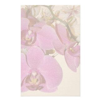 A orquídea floresce artigos de papelaria