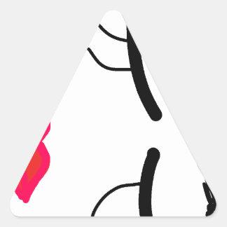 a outra coleção da Bela Adormecida Adesivo Triangular