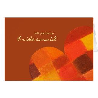 A oxidação do outono seja meu cartão da dama de