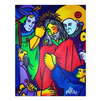 A paixão do cristo por Piliero Panfletos Coloridos
