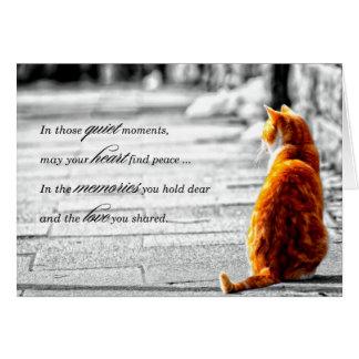 A-PAL - Simpatia alaranjada do animal de estimação Cartão Comemorativo