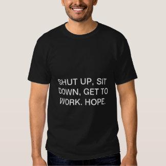 A palavra da cara do filme policial da sabedoria t-shirt