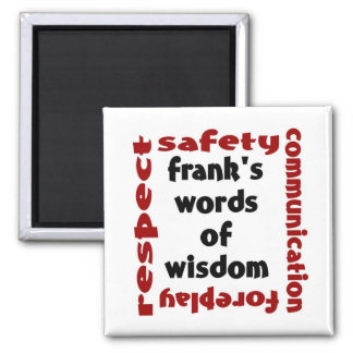 a palavra da franquia da sabedoria ímã quadrado