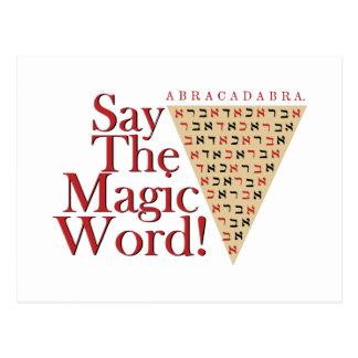 A palavra mágica cartão postal