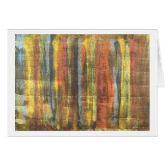 A paleta do pintor cartão comemorativo