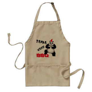 A panda do feriado quer o avental do CHURRASCO
