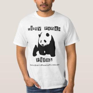 A panda suja filma o t-shirt genérico camiseta