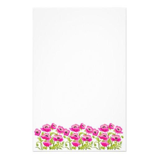 A papoila de jardim cor-de-rosa floresce artigos d papéis personalizados