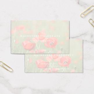 A papoila romântica customizável floresce cartões
