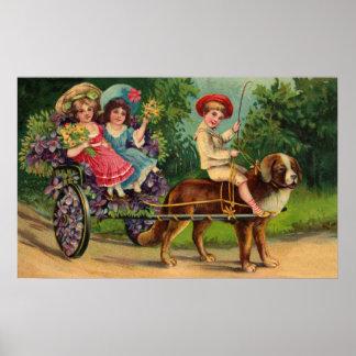 A parada das crianças do Victorian Poster