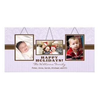 A parede quadro cartões de fotos do feriado da fam cartões com fotos personalizados