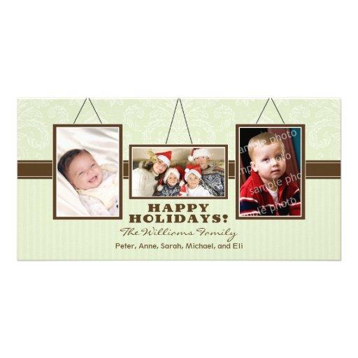 A parede quadro cartões de fotos do feriado da fam cartões com fotos