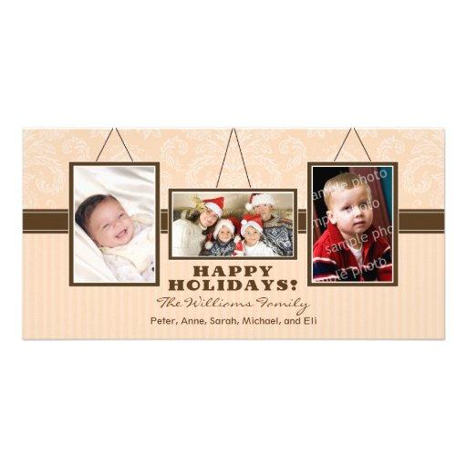 A parede quadro cartões de fotos do feriado da fam cartão com foto personalizado