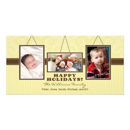A parede quadro cartões de fotos do feriado da fam cartão com fotos
