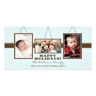 A parede quadro os cartões de fotos do feriado da  cartao com foto