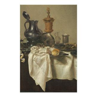 A parte do banquete com tritura a torta por Willem Flyer 13.97 X 21.59cm