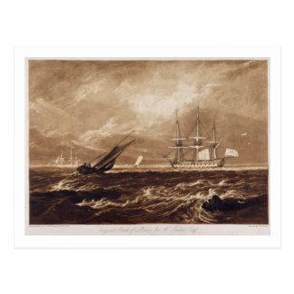 A parte do mar do líder, gravada por Charles Cartão Postal