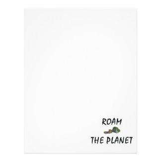A PARTE SUPERIOR vagueia o planeta Panfleto Personalizados