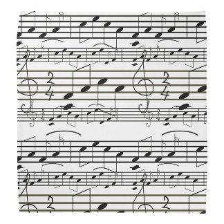 A partitura nota a nota preto e branco do Clef Faixas Para Cabeça