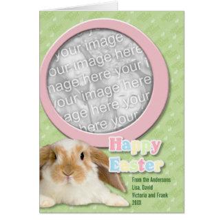A páscoa ADICIONA SUA páscoa Hoppy da FOTO Cartão Comemorativo