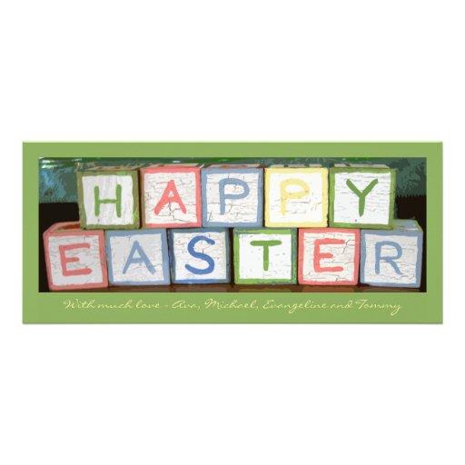 A páscoa obstrui o cartão do feriado da foto convite
