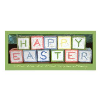 A páscoa obstrui o cartão do feriado da foto convite 10.16 x 23.49cm
