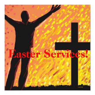 A páscoa presta serviços de manutenção ao convite convite quadrado 13.35 x 13.35cm