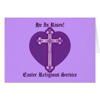 A páscoa religiosa Serviço-Personaliza Cartão Comemorativo