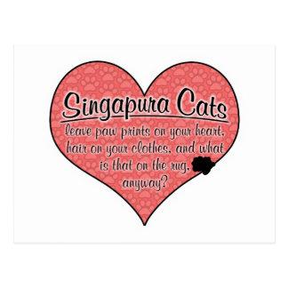 A pata de Singapura imprime o humor do gato Cartão Postal