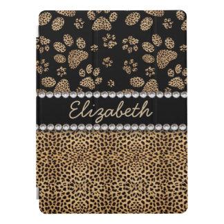 A pata do ponto do leopardo imprime diamantes do capa para iPad pro